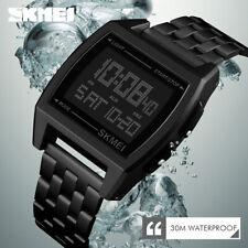 SKMEI Watch Mens Sport Watches Countdown Alarm Digital 30m Waterproof Wristwatch