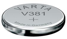 10x V381 Uhren-Batterien Knopfzelle =  SR55SW SR55 Hersteller VARTA