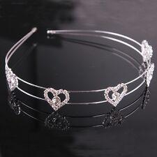 Hearts Crystal Hair Jewelry/Headbands for Wedding/Birthdays/Quinceanera