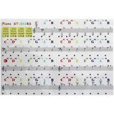 Piano Stickers Keyboard Learn Note Letter Labels Kids Teacher 37 49 61 88 Keys