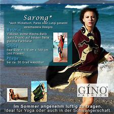 Sarong Wickeltuch Lungi Pareo Wickelrock Gr118x189cm Neuware Batik, GINO-FASHION