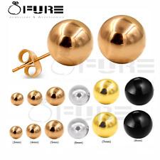 Women Men Surgical Steel Ball Ear Stud Earrings Silver Gold 3mm-8mm