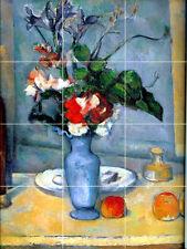 18 x 24 Ceramic Mural Flowers Vase Backsplash Bath Cezanne Tile #71