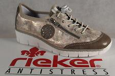 RIEKER Mocassins Femme Chaussures à lacets, basses, baskets, rose NEUF
