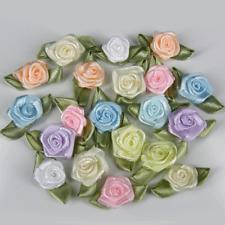 Pastel Mezcla Rosebuds Rosas Flores De Satén Boda Tarjeta capullos de rosa 25 50 500