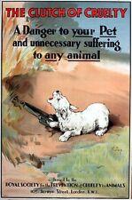 Vintage RSPCA Animal Cruelty Awareness Animal Traps Poster A3 Print