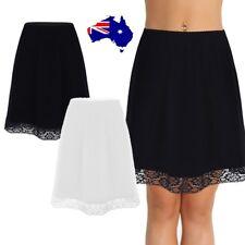Womens Waist Slip Lady Lace Short Underskirt Soft Petticoat Extender Half Slip