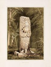 "Frederick Catherwood : ""Idol at Copan"" (1844) — Giclee Fine Art Print"