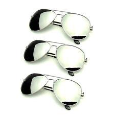 3aef88576c Anuncio nuevoPaquete de paquetes Paquete de 3 pares de gafas de sol en plata  espejo Polarizado Hombre Mujer
