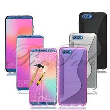 para Huawei Honrar Vista 10 V10 NUEVO GEL TPU Negro Funda de teléfono +