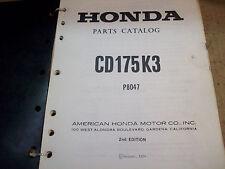 1974 HONDA CD175K3 PARTS CATALOG OEM