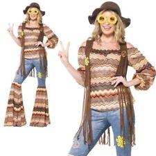 Adulto Harmony Disfraz de Hippie Años 60 Psicodélico Hippy Acampanados Ropa