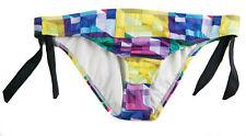 Hurley Swim Women's Hipster with Ties Multicolored Fashion Swim Bottom