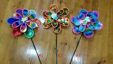 Beautiful multicoloured garden windmill party/home deco