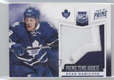 2012-13 Panini Prime Time Rookies Patch 1 Ryan Hamilton Toronto Maple Leafs Card