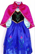 Mädchen Karneval Kostüm-Eiskönigin Anna Fasching verkleiden Märchen Kleid blau6