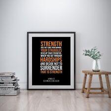 Arnold Schwarzenegger Inspirational Wall Art Print Motivational Quote Poster Gym