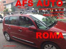 BARRE PORTATUTTO ALLUMINIO AFS X CITROEN C3 PICASSO 2011 RAILS CHIAVE ANTIFURTO