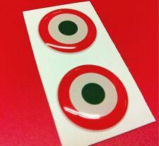2 Adesivi Resinati Sticker 3D ITALIA target 20 mm