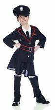 Costume Carnevale carabiniera travestimento bambina *04991