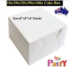 8x8x4 CAKE BOXES Wedding Box Cupcake Box Inch 10/20/25/50/100pk