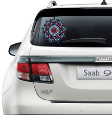 Mandala Car Sticker Car Rear Window Boho Stickers Graphics Flower Color EM3