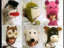 New Handmade Knit 100% Wool Unisex Animal Winter Nepal Hat Deer Owl Polar Bear