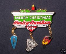 HARLEY DAVIDSON VEGAS 2004 CHARMS WITH CHRISTMAS PIN