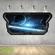 SPACE WALL STICKER WINDOW 3D LOOK - MOON PLANET GALAXY STARS BOYS BEDROOM Z373