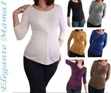 Umstandsshirt T-Shirt 3/4 Arm Shirt Bluse Tunika Longshirt Umstandstunika f.Hose