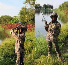 Outdoor Bionic Camo Coat Hunting Fishing Jacket Hoodie Prevent Mosquito Tops
