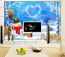 3D Cartoon Snow love 1094 Wall Paper Wall Print Decal Wall Deco AJ WALLPAPER