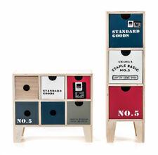 Mini Kommode Schubladenschrank Schränkchen Industrie Design 3, 6 Schubladen NEU