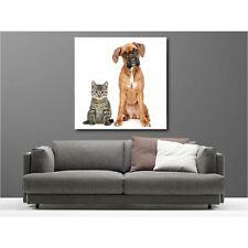 Tableaux toile déco carré chien et chat 69203530