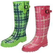 Mujer Patrón COMPROBADO Botas de lluvia Disponible en 2 COLORES X1161