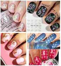 Nail Art Water Transfer Stickers-Tattoo Adesivi Unghie-Fiori-PIZZO-Manicure !!!