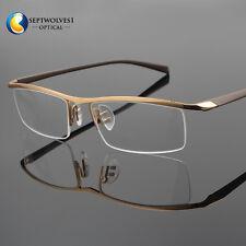 New Men's Half Rimless Titanium Reading Glasses Eyeglasses Reader +0.00~+5.00