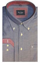Ben vert homme 100% Coton Chevrons Style Shirt à Manches Longues 40120-11