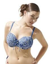 Panache Swimwear sw0396 Amalfi parte superior del bikini azul / Marfil