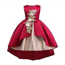 Dress formal wedding baby bridesmaid kid tutu flower dresses girl princess party