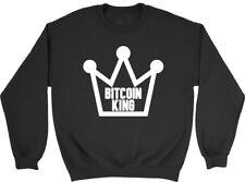Bitcoin King Mens Womens Ladies Unisex Sweatshirt