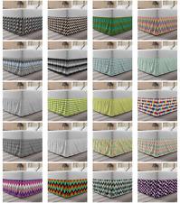 Ambesonne Chevron Zigzag Bedskirt Elastic Wrap Around Skirt Gathered Design