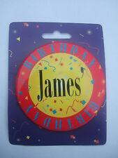 Personalised Birthday Button Badge - Jumbo 75mm - Names J to K