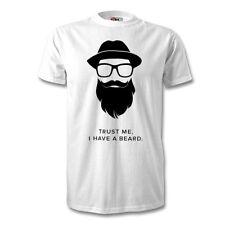 Trust Me I Have A Beard Print T-Shirt Logo Novelty Beard Gang Hipster Unisex