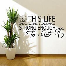 LIVE Life forte abbastanza spazio Muro ARTE Preventivo Adesivo Decalcomania Murale Trasferimento Stencil