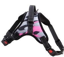 Pink No Pull Adjustable Dog Pet Vest Harness Quality Nylon or Leash BIG S M L XL