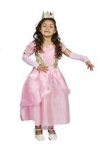 Girls Pink Princess Halloween Costume FREE TIARA,SLEEVES Size S M 4 5 6 7 8
