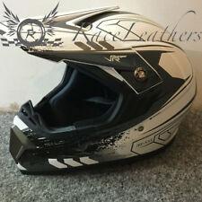 VIPER rs-x55 BIANCO LUCIDO NERO MX motocross enduro fuoristrada