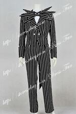 The Nightmare Before Christmas Cosplay Jack Skellington Costume Suit Halloween