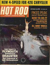 Hot Rod 1963 Sep chrysler corvair plymouth drag racing